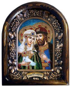 Икона Благоверных Петра и Февронии.
